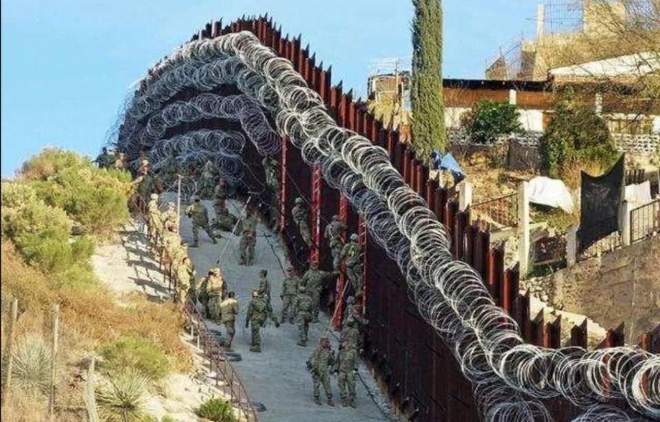 反转了,防火防盗防美国人,墨西哥强力封锁边境,禁止美方入境